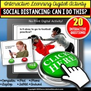 Special Education Distance Learning | Social Distancing NO PRINT Digital Activity