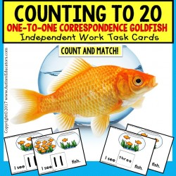 TASK CARDS for One To One Correspondence Counting To 20 for Autism TASK BOX FILLER