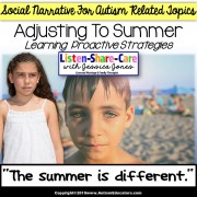 Social Narrative SUMMER BREAK for Autism