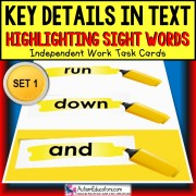 SIGHT WORDS KEY DETAILS WITHIN TEXT Task Box Filler Activities SET 1 TASK BOX FILLER