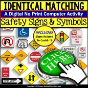 Special Education Distance Learning | SAFETY SIGNS and SYMBOLS | NO PRINT
