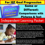 Independent Learning Packet for Special Education | Comparing Pictures and Text