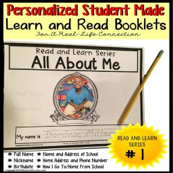 PERSONALIZED Student Information Learn and Read Booklets for Autism