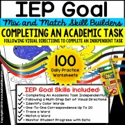 COMPLETING AN ACADEMIC TASK Following Visual Directions IEP GOAL SKILL BUILDER
