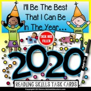 """2020 New Year Resolutions Task Cards for Manners and Kindness """"Task Box Filler"""""""