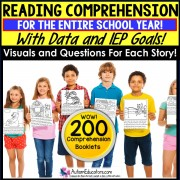 "READING COMPREHENSION ""Wh"" Questions and DATA Special Education"