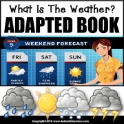 Adapted Book: WHAT IS THE WEATHER – Special Education Resource for Reading