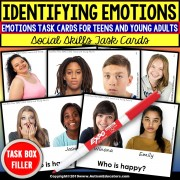 "EMOTIONS Teens and Young Adults Task Cards ""Task Box Filler"" Special Education"