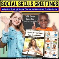 Social Distancing Greetings for Students - Adapted Book for Special Education