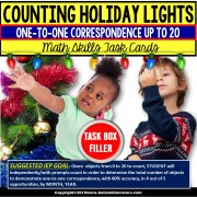 "ONE-TO-ONE CORRESPONDENCE Counting CHRISTMAS Task Cards ""Task Box Filler"""