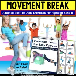 Movement Break for Social Distancing - Adapted Book for Special Education
