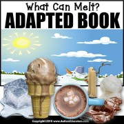 Adapted Book: WHAT CAN MELT – Special Education Resource for Reading