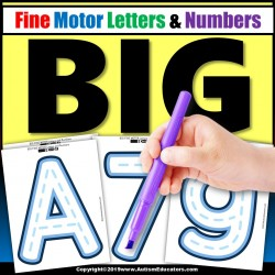 FINE MOTOR SKILL ACTIVITIES Tracing Letters and Numbers