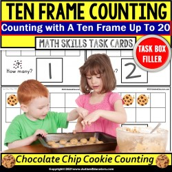 TEN FRAME | Counting Cookies Task Cards Task Box Filler Task Box for Autism