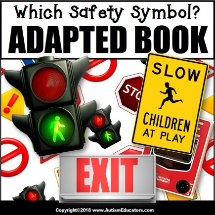 Adapted Book: WHICH SAFETY SYMBOL – Special Education Resource for Reading