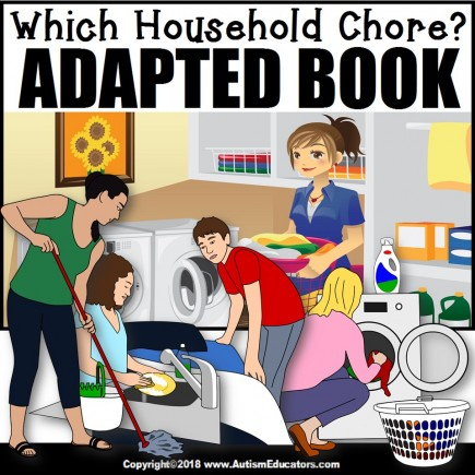 Adapted Book: WHICH HOUSEHOLD CHORE – Special Education Resource for Reading