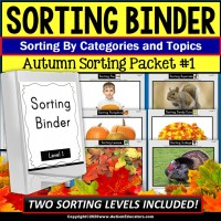 Sorting | Categories and Topics Binder Packet with Pictures AUTUMN Theme | SET 1