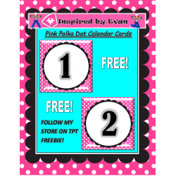 Polka Dot Calendar Cards for Autism
