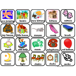 """GOODNIGHT MOON"" Vocabulary Word Pictures for Autism"