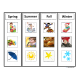 Seasons Sorting Board and Picture Choices for Autism
