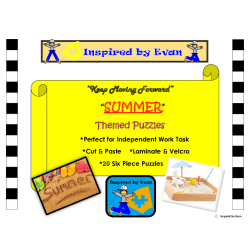 Summer Simple Puzzles for Autism