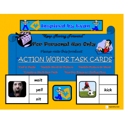 Action Words Task Cards