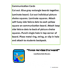 School to Home Communication Cards