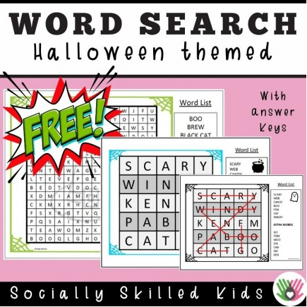 Halloween Themed Word Search   Freebie