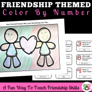 Friendship Themed Color By Number FREEBIE