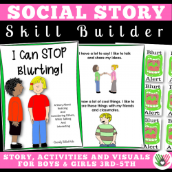 I Can STOP Blurting || SOCIAL STORY SKILL BUILDER || For Boys and Girls 3rd-5th