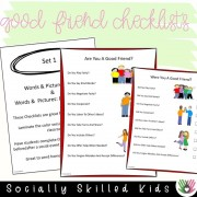 Good Friend Checklists | 12 Differentiated Checklists