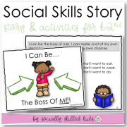 I Can Be The Boss Of Me | Social Skills Story and Activities | For K-2nd