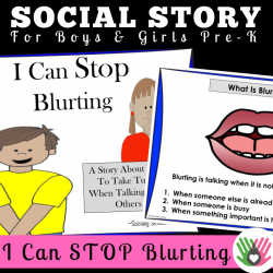 I Can STOP Blurting || SOCIAL STORY || For Pre-K Boys and Girls