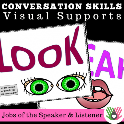 COMMUNICATION SKILLS Jobs Of The Speaker & Listener {Visual Supports}