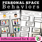 Personal Space Behaviors || Differentiated For k-5th Grade or Ability