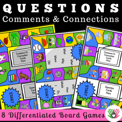 Asking Questions, Making Comments and Making Connections {Differentiated Board Games For K-5th Grade}