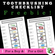 Toothbrushing Checklist {1 For A Boy, 1 For A Girl}