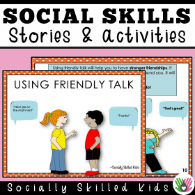 Using Friendly Talk | Social Skills Story and Activities | Distance Learning Friendly