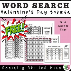 Valentine's Day Themed Word Search | Freebie