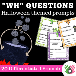 """Wh"" Question Prompts Halloween Themed 