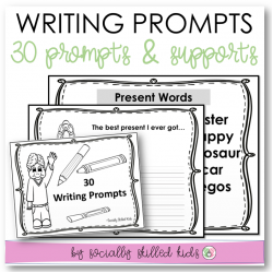 Writing Prompts | 30 Differentiated Prompts With Supports