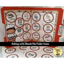 Giggly Games Baking with Blends File Folder Game