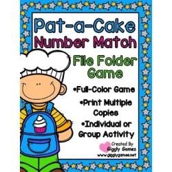Pat-a-Cake Number Match File Folder Game