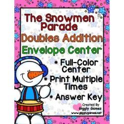 The Snowmen Parade Doubles Addition Envelope Center