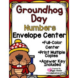 Groundhog Day Numbers Envelope Center