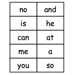 Sight words flush cards - High Frequency 25, 50, 100, 200 words