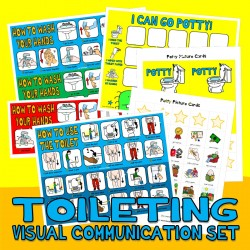 ToiLeT ' PoTTY ' TRaiNiNG ViSuaL SuPPoRT SeT with 40 PECS PiCTuRe CaRDS autism