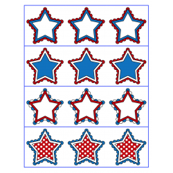 File Folder Activity Preceding and Following Numerals 1-20 (Patriotic Stars Theme)