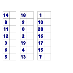 File Folder Activity Matching Numerals 0-20 (Blue)