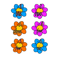 File Folder Number Words 1-10 (Flower Theme)